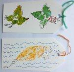 Leaf printing birds 1
