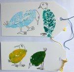 Leaf printing birds 2